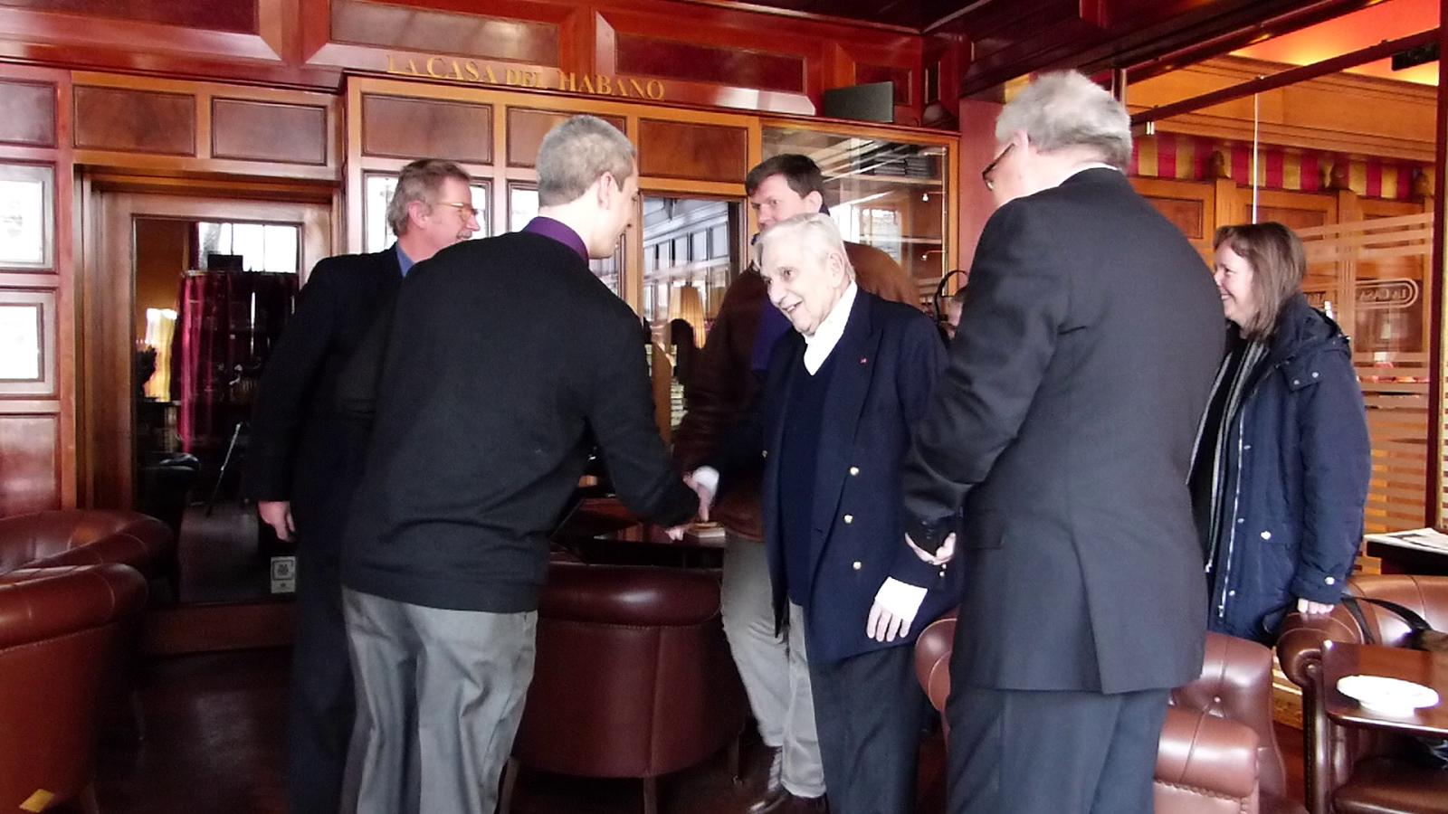 Meeting Sir Ken Adam at the Savoy Hotel, Berlin / Photo: Benjamin Lind