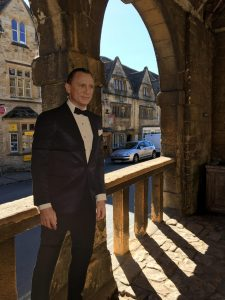 The cardboard cut-out of Daniel Craig in Chipping Campden