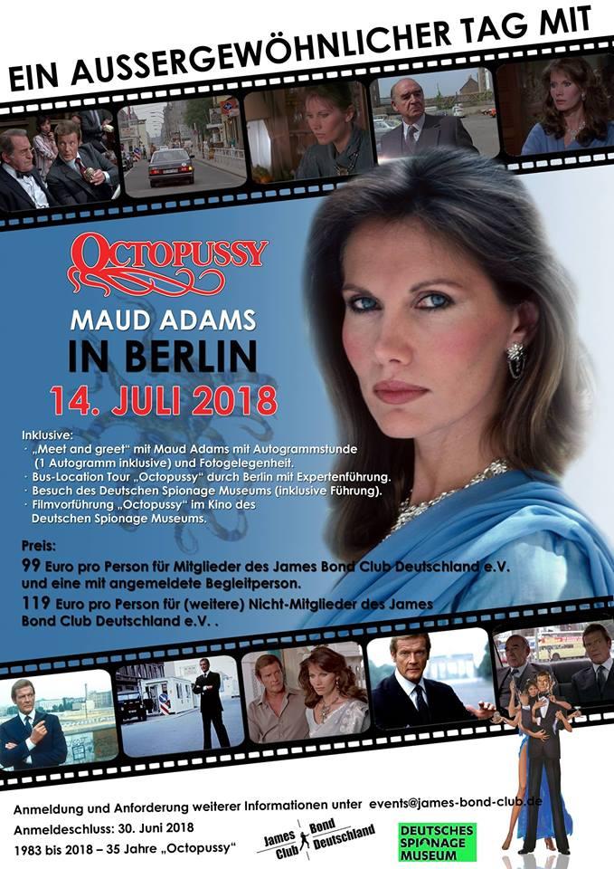[DE] 35 Years of 'Octopussy' with Maud Adams in Berlin @ Deutsches Spionage Museum | Berlin | Berlin | Germany
