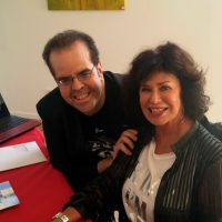 Corinne with Bondfan Mario Perez